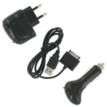 Oplaad Set Zwart 4in1 voor iPhone 3G / 3GS / 4