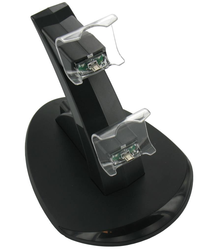 Ladestation mit<br> LED-Licht für zwei<br>PS4 Steuerung