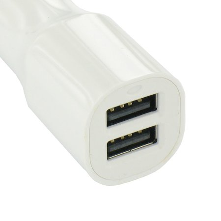 USB 2 Poort Auto Lader Wit 3.4 Ampere High Power