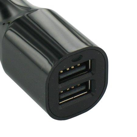 USB 2 Poort Auto Lader Zwart 3.4 Ampere High Power