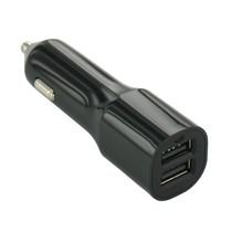 USB 2 Poort Auto Lader Zwart 3.4 Ampere High Power
