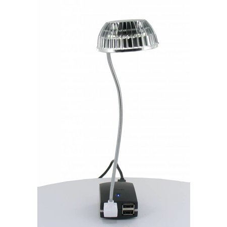 USB Mini LED Lampje Zilver
