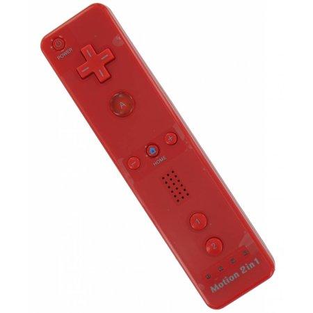 Remote Rood voor de Wii en Wii U met Motion+