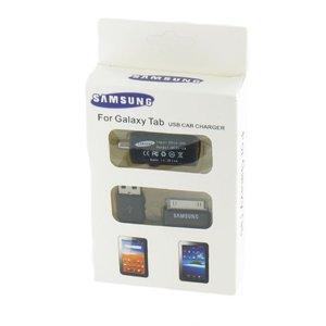 Auto lader + data kabel zwart voor Samsung Galaxy Tab 10.1