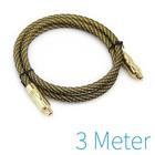 Optische Toslink kabel gold plated 3 meter