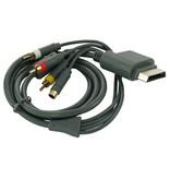 S-Video + AV tulp (composiet) kabel voor XboX 360 1.8m