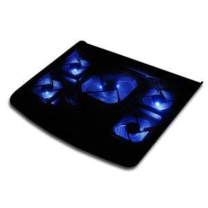 Laptop Koeler met 5 fans en blauw LED licht