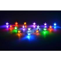 LED Oorbellen Set Met Ster Wit