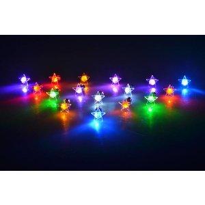 LED Oorbellen Set Met Ster Paars