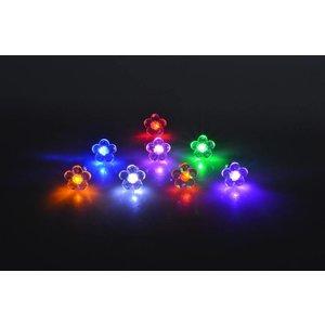 LED Oorbellen Set Met Bloem Rood