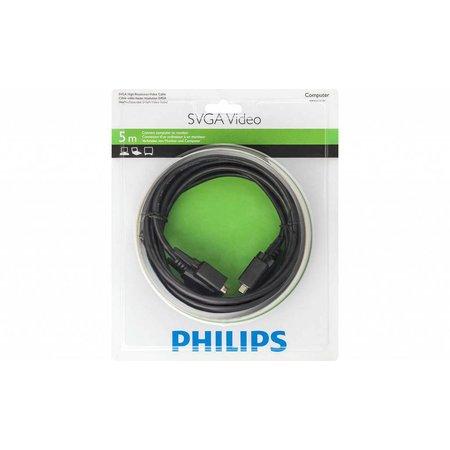 Philips SWX2115 – Super-VGA (SVGA) videokabel (male -> male) - 5 meter – tot 1920 x 1080p - Zwart