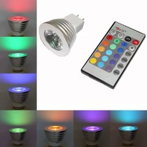 MR16 / GU5.3 RGB LED-spot met afstandsbediening – 3 Watt