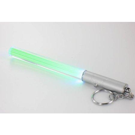 Dolphix Mini LED Lightsaber sleutelhanger lampje - Blauw/Groen - 12 cm