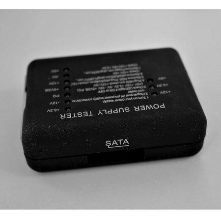 ATX voedingstester voor PSU – Voorkomt schade aan computer hardware – Voor 20- of 24pins voedingen - Zwart