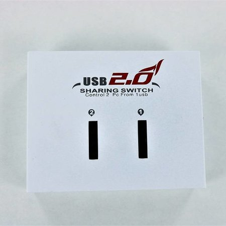 USB Type-A naar USB Type-B Sharing Switch – Wit