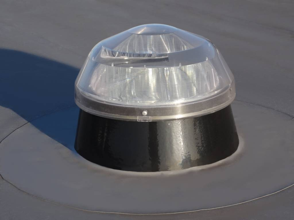 Licht buis plat dak