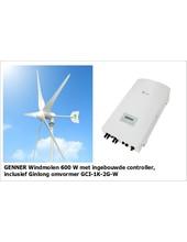 Genner Complete set | Genner 600W windmolen + Ginlong omvormer