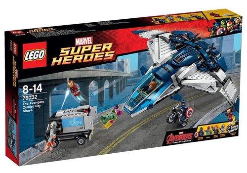 76032 Super Heroes De Avengers Quinjet Stad Achtervolging