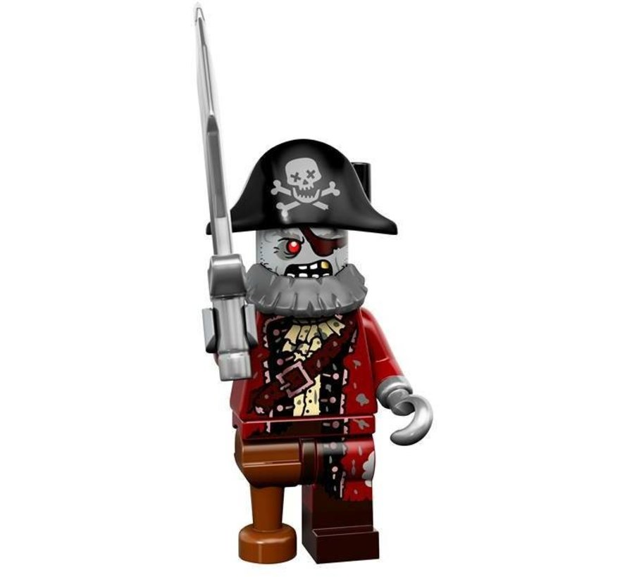 71010-2:Minifiguren serie 14 Zombie Pirate