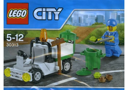 30313 City Polybag Stad Afvaldienst Auto