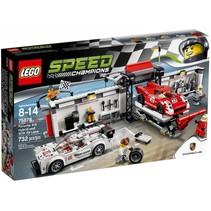 75876 Speed Champions Porsche 919 Hybrid en 917K pitstraat
