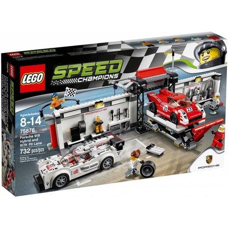 LEGO 75876 Speed Champions Porsche 919 Hybrid en 917K pitstraat