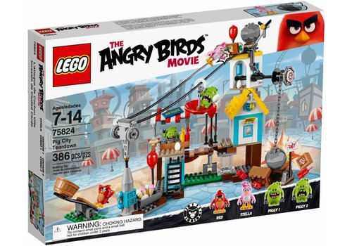 75824 Angry Birds Pig City sloopfeest