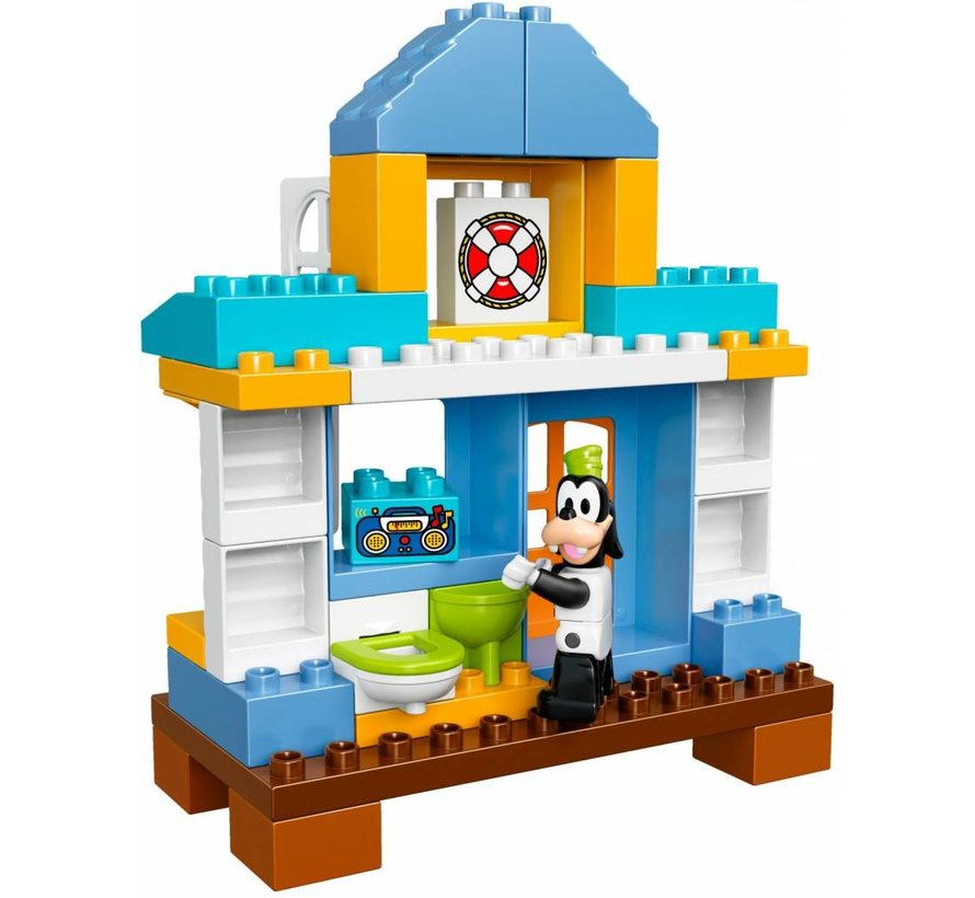 10827 Duplo Strandhuis Mickey en Friends