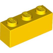 Brick 1x3 geel, 10 stuks