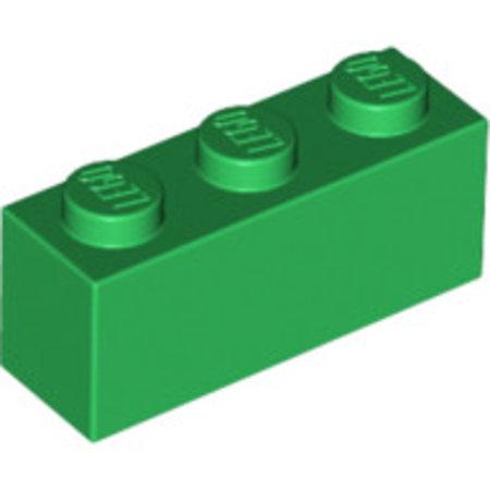 LEGO Brick 1x3 groen, 10 stuks