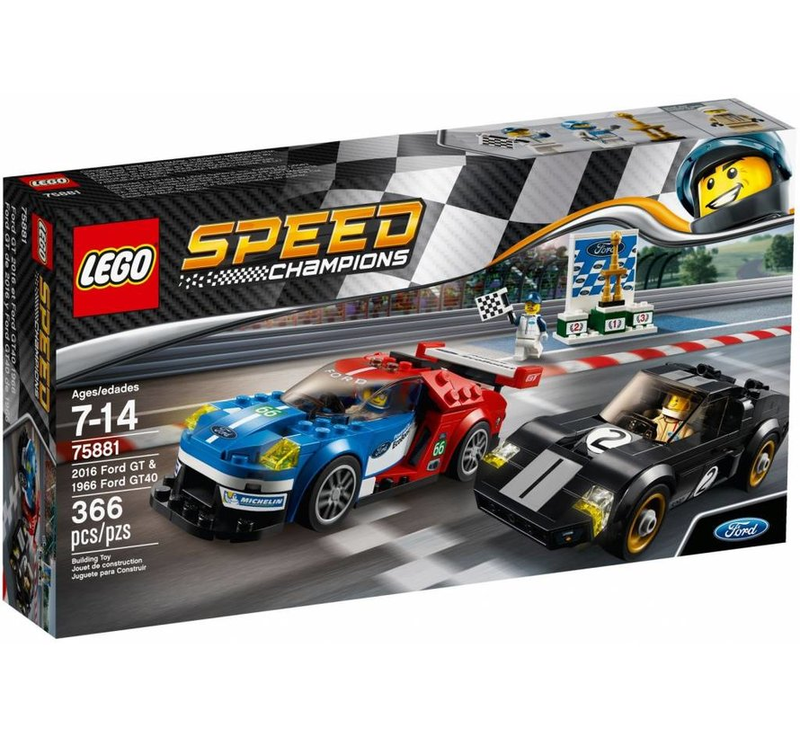 75881 Speed Champions 2016 Ford GT & 1966 Ford GT40