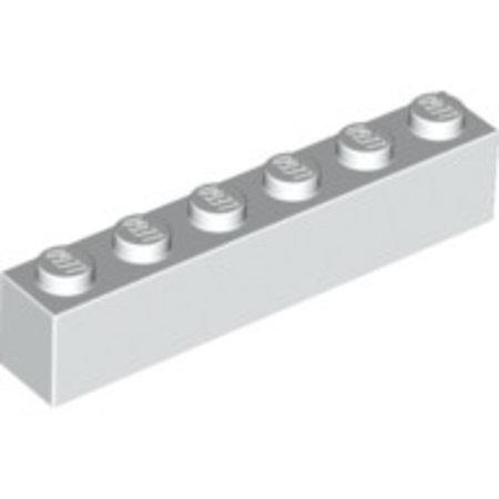 LEGO Brick 1x6 wit, 10 stuks