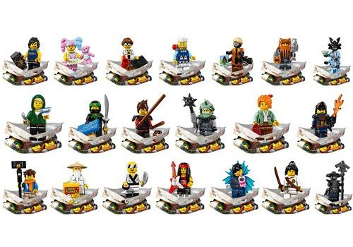 71019 Ninjago Movie  minifiguren, complete serie