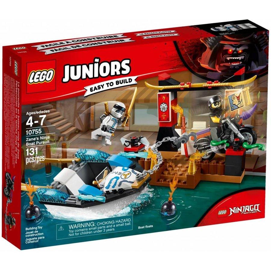 10755 Juniors Zane's ninjaboot achtervolging