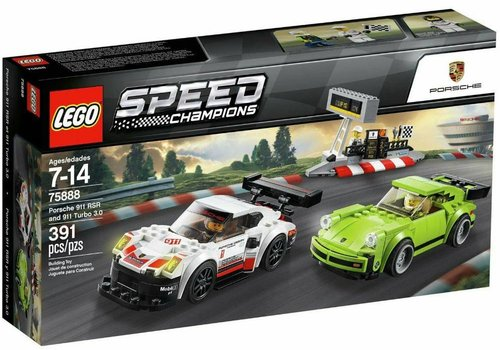 75888 Speed Champions Porsche 911 RSR en 911 Turbo 3.0