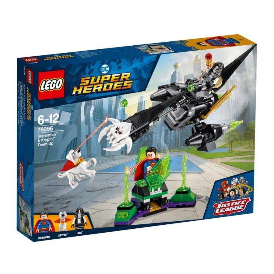 Super Heroes 76096 Superman en Krypto samenwerking