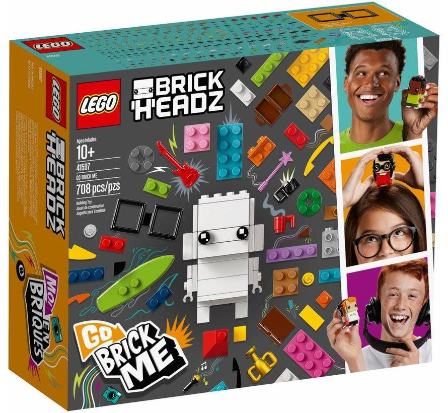 41597  BrickHeadz Maak mij van stenen