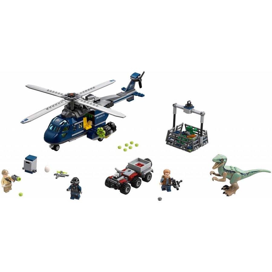 75928  Jurassic World Helikopterachtervolging van Blue
