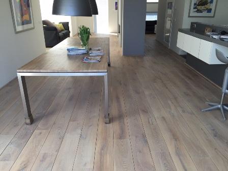 Projecten bestaande houten vloer schuren en oli n en for Tafel schuren en olien