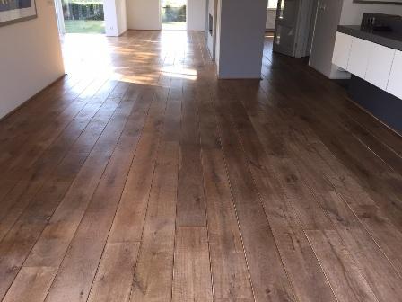 Geoliede grenen houten vloeren