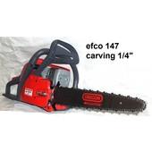 """Carvingsäge efco 147 Kettensäge 35cm umgerüstet auf 1/4"""" 2,3 kW 3,1PS 4,9 kg + Ersatzkette"""