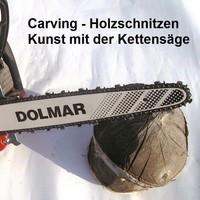 Carving-Holzschnitzen Kunst mit Kettensägen