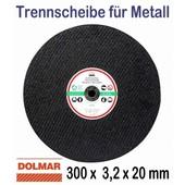 Trennscheibe für Stahl 300 x 20mm 1 Stück für Motortrennschleifer Trennschleifer