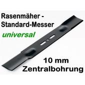 Rasenmähermesser 43 cm univ. bei 9,5 o. 10mm Aufnahme Zentrierung