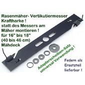 Vertikutiermesser Kraftharke für 41-46 cm Rasenmäher Vertikutierbalken univ. Verwendung bei Mittelzentrierung