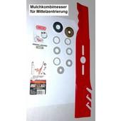 Oregon Rasenmähermesser 43 cm Mulchmesser universal bei Anwendbarkeit der Pass-Scheiben + kl. MTD Stern