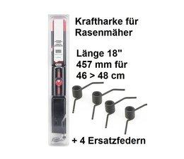 """Vertikutiermesser Kraftharke 18"""" für 46 > 48cm Schnittbreite + 4 Ersatzfedern auch für MTD Rasenmäher mit kl. Stern"""