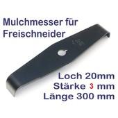 Freischneidermesser Mulchmesser 300 x 20 x 3mm 2-Zahn 90° Kröpfung Dickichtmesser Motorsense Freischneider