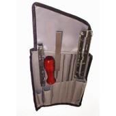 Schärfset OZAKI in Rolltasche für Sägeketten mit Feilen 5,5 - 4,8 - 4,0 mm für alle Kettenteilungen