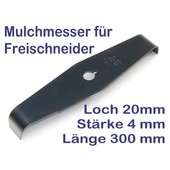 Freischneider Mulchmesser 2-Zahn 90° 300 x 20 x 4 mm Dickichtmesser Motorsense